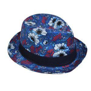NWT Men's Ben Sherman Floral Print Fedora Hat